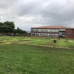 Der Rasen hat doch ganz schön gelitten#